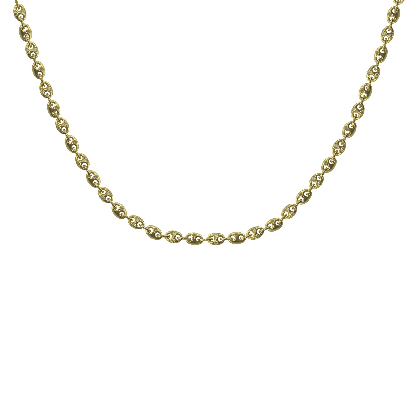 Double karma plain Link  everything that glitters necklace