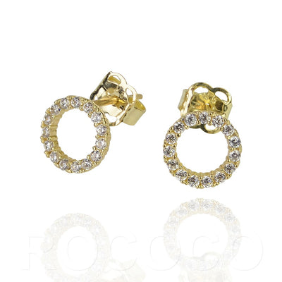 Circle of life solid gold earings