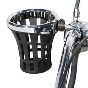 "Ciro Big Ass® Drink Holder with 7/8"" & 1"" or 1-1/4"" Aluminum Clamp Mount in Chrome or Black"