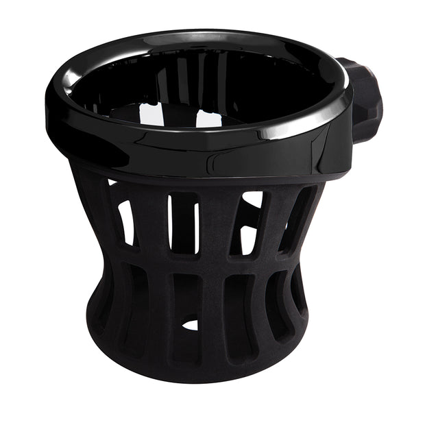 Left Side Drink Holder In Black or Chrome