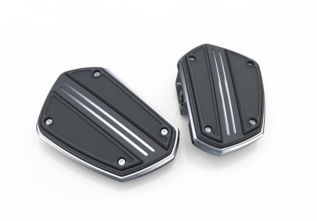 Twin Rail Floorboards in Black or Chrome