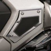 Swingarm Pivot Covers in Black or Chrome