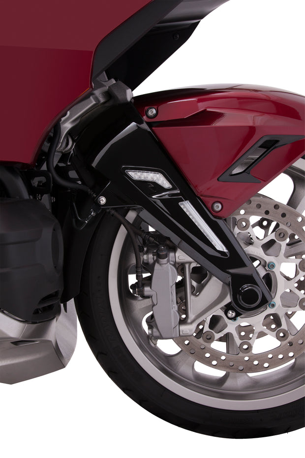 Front Fork Leg Covers in Black or Chrome