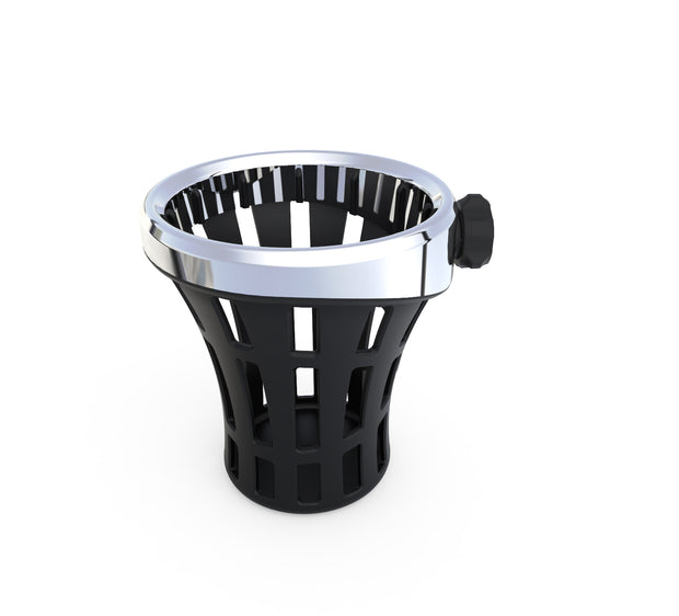 Perch Mounted Big Ass® Drink Holder in Black or Chrome