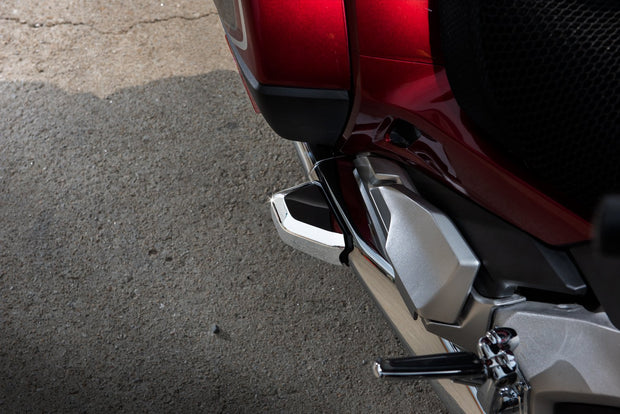 TWINART Chrome Saddlebag Guard Covers