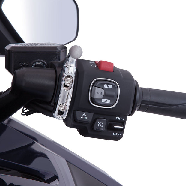 Left or Right Accessory Mount In Black or Chrome