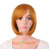 Side Bangs Short Wigs High-temperature Fiber BOB Anime Cosplay Wigs
