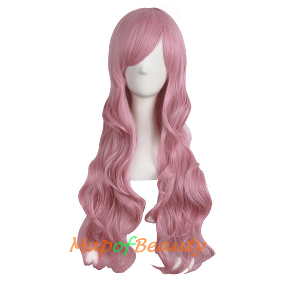 Long Wavy Curly Cosplay Wigs for Women Color Full Wig Fluffy Hair Replacement