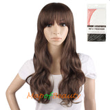 High-temperature Fiber Side Bangs Long Wave Curly Hair Cosplay Wigs