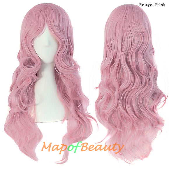 Pink,Medium long hair