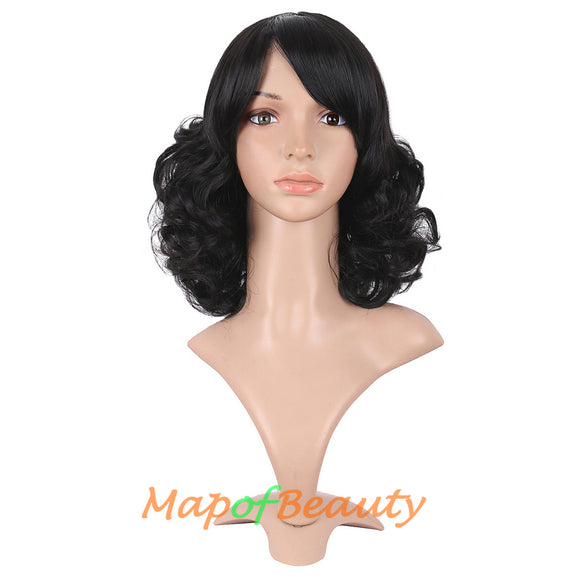 High-temperature Fiber Side Bangs Short Spiral Curly Hair Cosplay Wigs