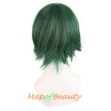 Blonde MapofBeauty 12//30cm Men Male Short Cosplay Wigs
