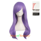 Kinky Curly Wigs for Women Side Bangs Micro Volume Wavy Long Cosplay Wig
