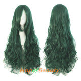 Long Big Wave Roll Curly Heat Resistant Side Bangs Cosplay Wig