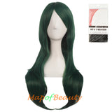 Side Bangs Natural Volume Long Curly Costume Cosplay Wigs