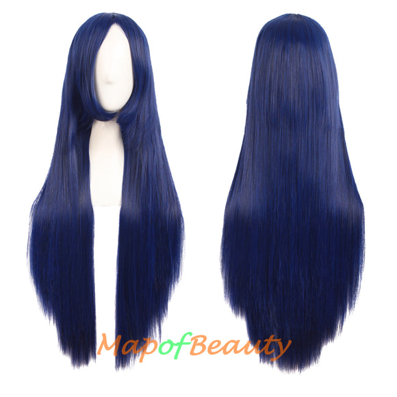 Heat Resistant Daily Use 31 Inch Medium Length Straight Cosplay Wigs