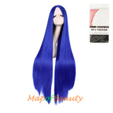 Cosplay Costume Anime Carve Bangs Long Straight Wigs High-temperature Fiber 40 Inch Wig