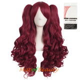 Lolita Lace Curly Wigs Tiger Cilp Horsetail Three-pieces Cosplay Anime Wigs
