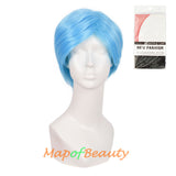 Short Curly Men Cosplay Wigs Women Colored Handsome Natural Hair