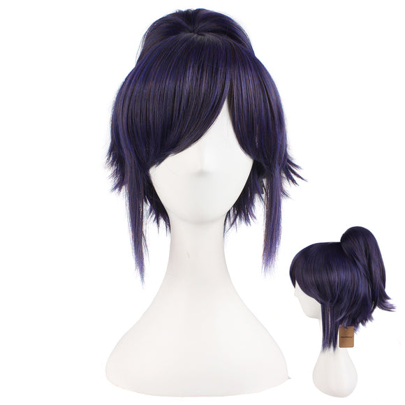 Anime Lovely Short Curly Clip On Ponytails Cosplay Wig Costume Party Wigs