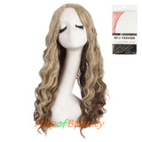 Women's Long Wavy Curly Hair Charms Cosplay Harajuku Wigs