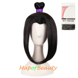 Anime Cosplay Wigs For Men Wig Widow's Peak Short Gripper Ponytail Ancient Style Hair