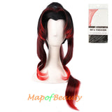 Long Wave Fringe Gripper Ponytail Heat Resistant Japanese Cosplay Wigs