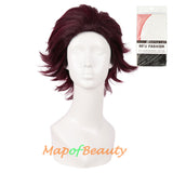 Ombre Characters Play Wigs Short Curly Synthetic Hair Anime Cosplay Colored Wig