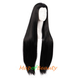 Universal Beauty Tip Carve Bangs Long Straight Wigs High-temperature Fiber Cosplay Wigs