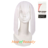 Cosplay Anime Short Straight Wigs Ponytail Side Bangs Heat Resistant Wig