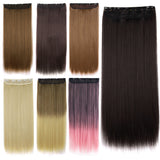 24 Inch Hair Extensions Ladies 5 Clip Long Straight Hairpiece