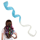 20 Inch Multicolor Costume Party One Clip Curly Cosplay Harajuku Hairpiece