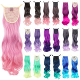 Gradient Fashion Party Charming Long Curly Ribbon Ponytail Extension