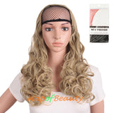 Fahion Long Curly Heat Resistant Hair Extension Wigs Half Wigs