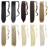 Wrap Around Extension Fashion Heat Resistant Long Straight Hair Paste Ponytail