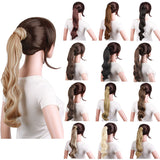 Fashion Party Long Curly Big Wave Roll Hair Paste Ponytail