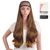 28 Inch Long Curly Charming Large Waves Roll Half Wigs
