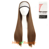 Fahion Girl Long Straight Sweet Lovely Hair Half Wig