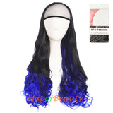 Charming Synthetic Fiber Long Wavy Hair Wig Women's Party Half Wigs