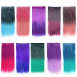 24 Inch 5 Clip Long Straight Fashion Party Cosplay Harajuku Hairpiece