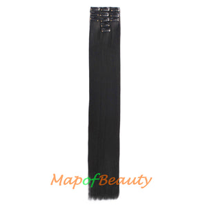 26 inch 67 cm Daily Use Hair Extensions 11 Clips Long Straight Ordinary Hairpiece wigs