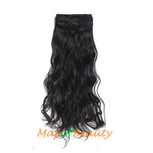 20 inch 50 cm Hair Extensions 11 Clip Wave Curly Long Curly Ordinary Hairpiece