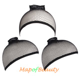 3 Pieces One Size Elastic Mesh Net Wig Caps Hair Net
