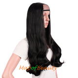 7 Clips Beautiful charming  Big Roll Long Curly Half Wigs Ordinary Hair Extensions