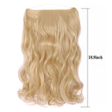 Long Curly Fish Line Hair Extension Synthetic Natural Invisible Headband Wire No Clip Hairpiece
