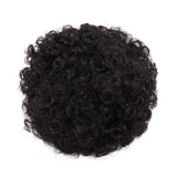 Hair Extension Chignon Short Afro Kinky Curly Bun With Bangs Synthetic Wigs