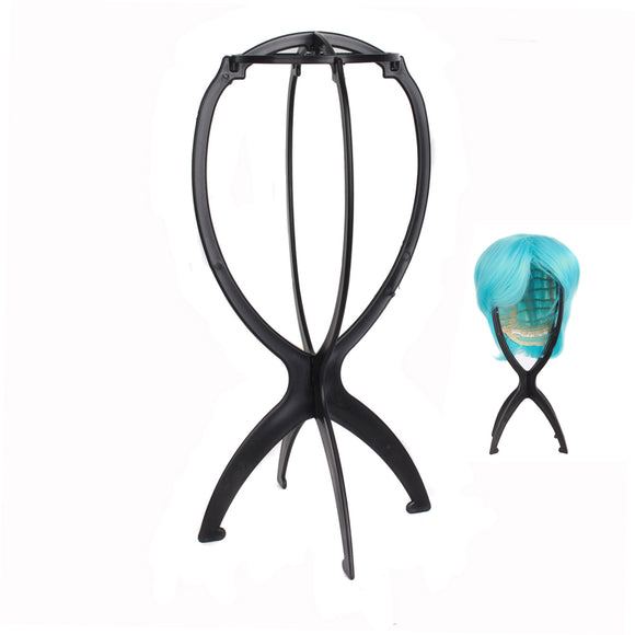 Portable Removable Collapsible Plastic Wig Stand,Wig Display Tool,Wig Rack