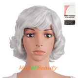 10 Inch Fluffy Curly Side Bangs Charm Synthetic Short Wig