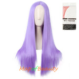 Long Straight Cosplay Wigs For Women Heat Resistant Natural Hair Synthetic Wig