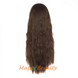 Fashion Flat Bangs Long Lace Front Wigs Heat Resistant Ordinary Wigs